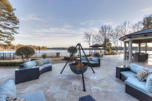 Poolside Seating & Fire Cauldron