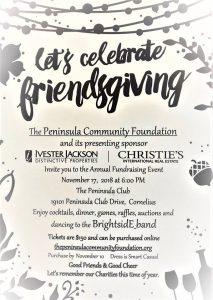 Peninula Community Foudnation Friendsgiving