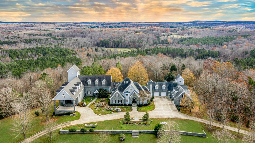 Private Ballroom Estate Nestled in North Carolina for Sale